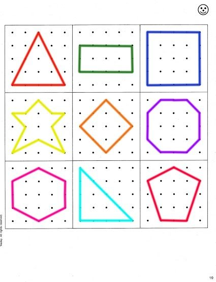Geoboard Shapes Template Disabilities   More Pins Like This At