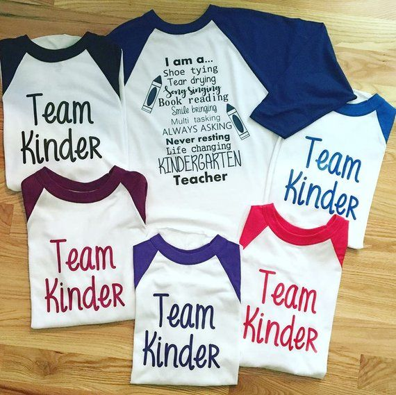 Kindergarten Teacher Shirts, Team Kindergarten, Baseball Tee