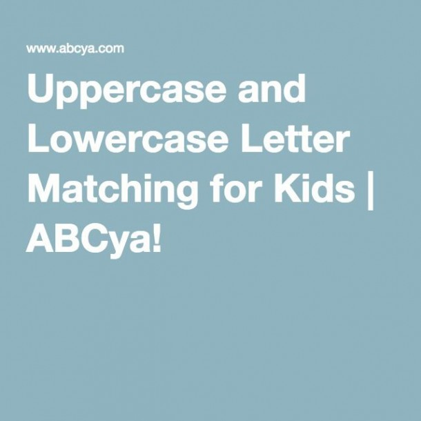 Uppercase And Lowercase Letter Matching For Kids
