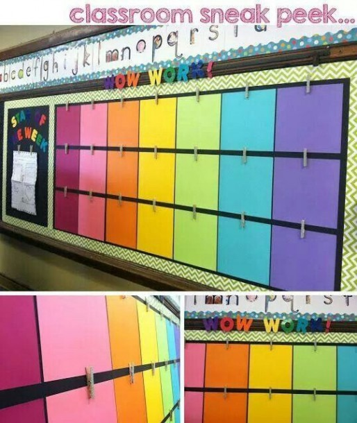 A Colorful Way To Showcase Student Work