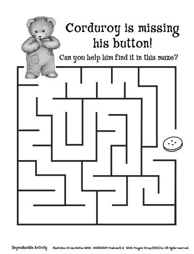 Corduroy Activity Pages