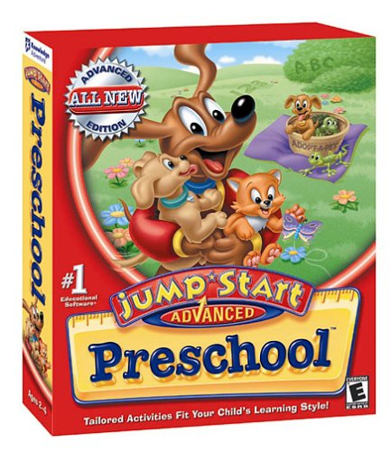 Amazon Com  Jumpstart Advanced Preschool With Free Vhs Video [old