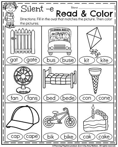 Amazing Coloring First Grade Reading Coloring Worksheets On Best
