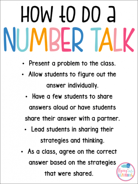 Number Talks In The Classroom Help Build Number Sense In Your