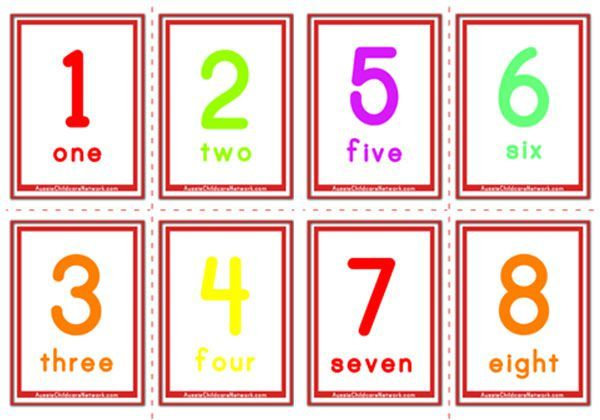 Flashcards Of Numbers And Number Words 1 To 20 Flashcards  1
