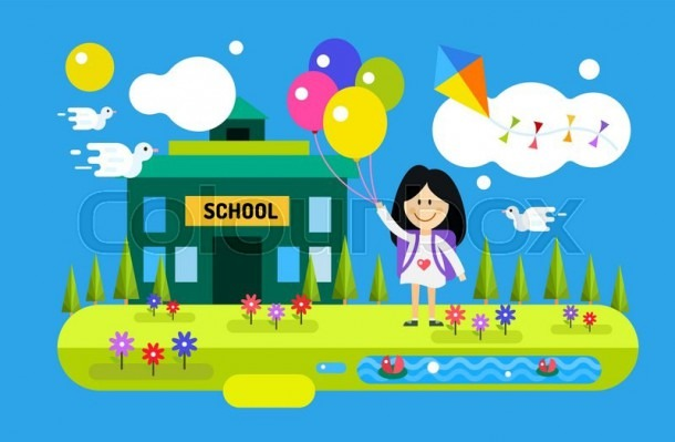 Back To School Background  Cute Vector