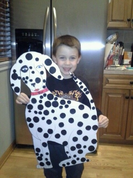 Dalmatian With A 100 Polka Dot For 100 Days Of School
