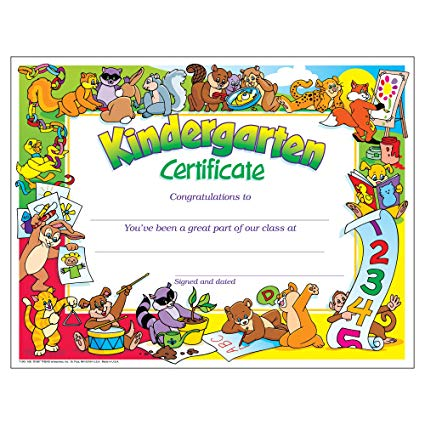 Amazon Com   Kindergarten Certificates (pk