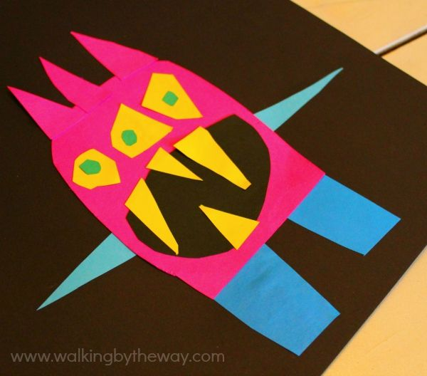 Cut Paper Monster Art Project Inspired By Ed Emberley's Monster