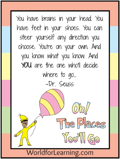 Oh, The Places You'll Go! {free Printable