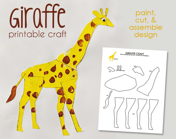 Printable Giraffe Craft From Learncreatelove Com