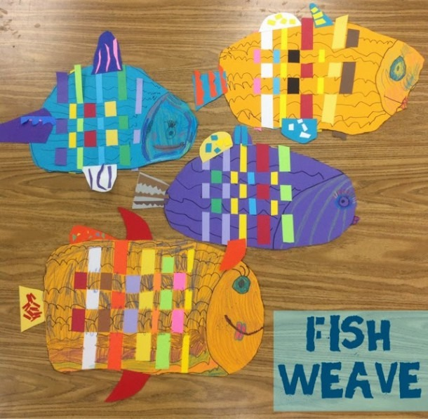 Mrs  Knight's Smartest Artists  Fish Weave, Kindergarten