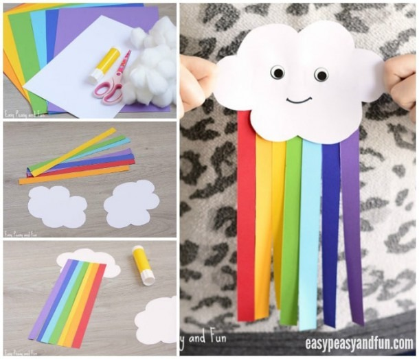 Cute Kids Craft  Colorful Paper Rainbow