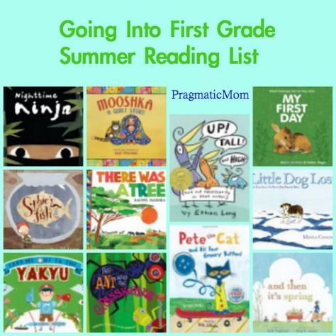 Rising Kindergarten Summer Reading List