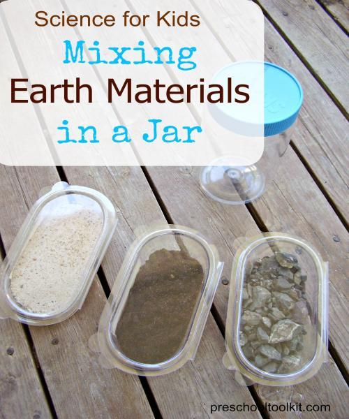 Mixing Earth Materials In A Jar Science Activity For Kids