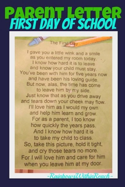 Photo Of  Poem For Entering Kindergarten, Poem From Teacher To