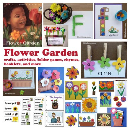 Flower Garden Crafts, Activities, Lessons, Games For Preschool And