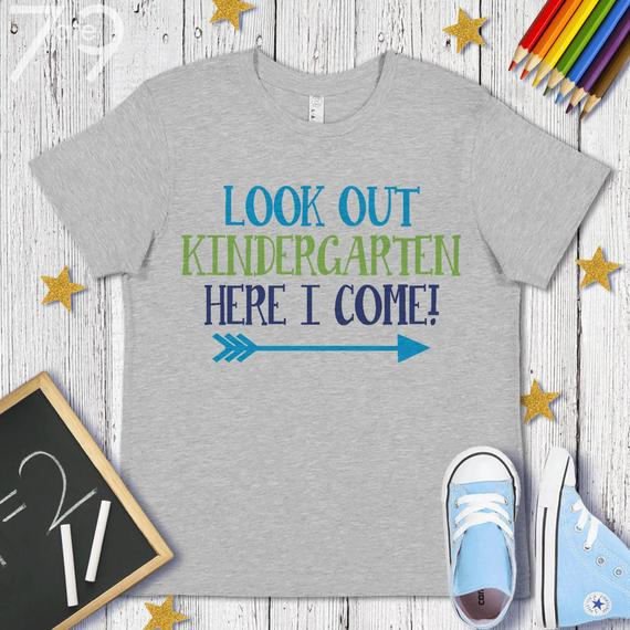 Back To School Shirt Look Out Kindergarten Shirt Kids Back