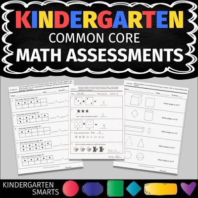 Kindergarten Common Core Math Assessments