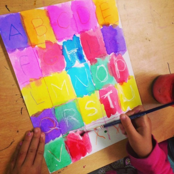 Alphabet Art For Kinders · Art Projects For Kids