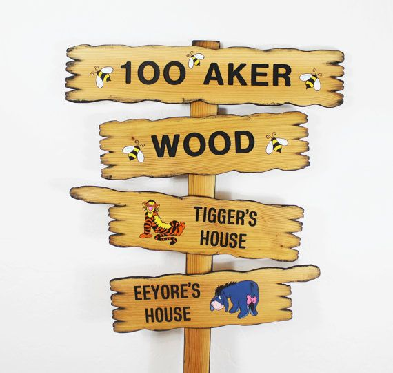 Hundred Acre Wood Winnie The Pooh Disney Themed By Thecommonsign