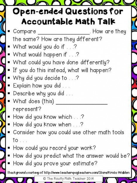 8 Ways To Pose Better Questions In Math Class