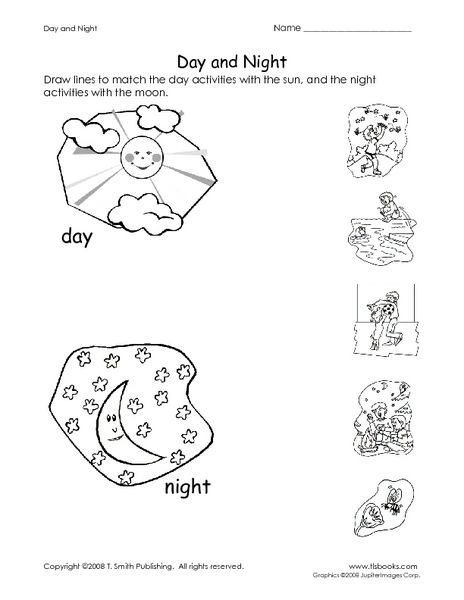 Day And Night Worksheet