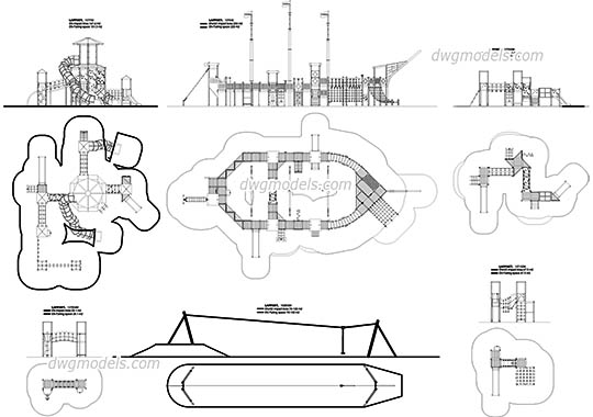 Playground Dwg Models, Free Download