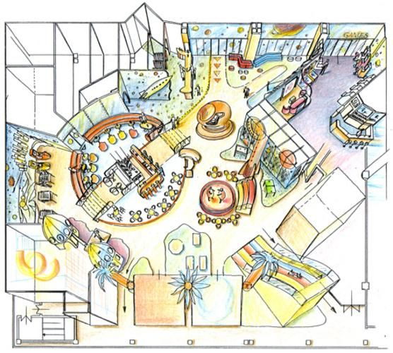Playground Floor Plan And Design For A Shopping Center In Astana