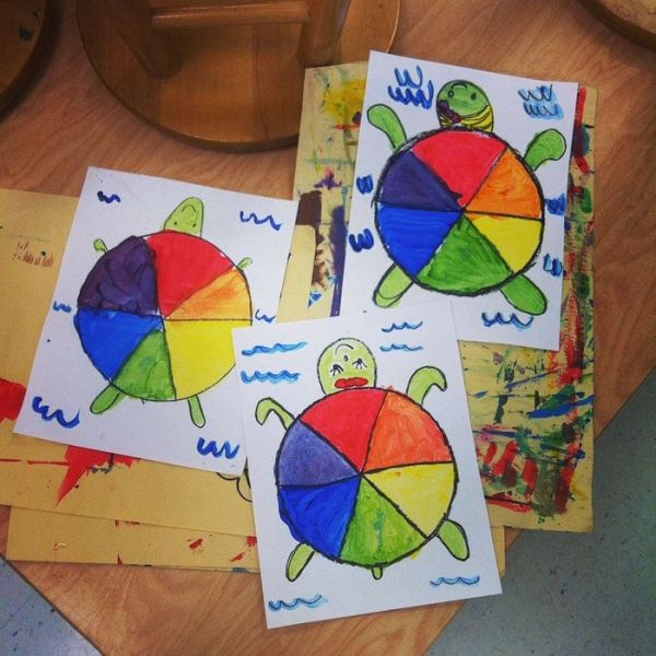 Elementary Art Unit  Color Theory   Color Wheel For Primary Grades