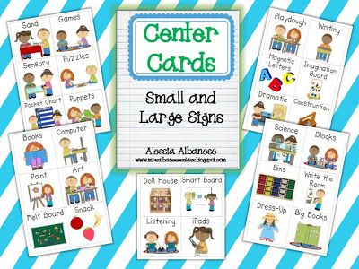 Center Cards  Small & Large Signs (free As Of This Pin; From Mrs