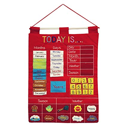 Amazon Com  Today Is Children's Calendar Wall Chart By Alma's
