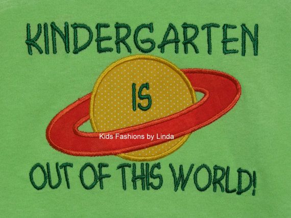 Lime Green Kindergarten Is Out Of This World School T