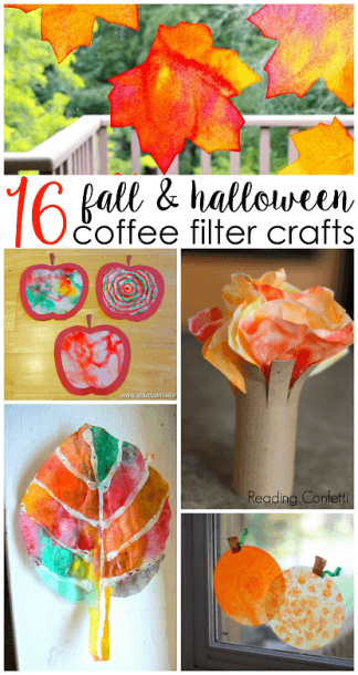 16 Fall Halloween Coffee Filter Crafts For Kids