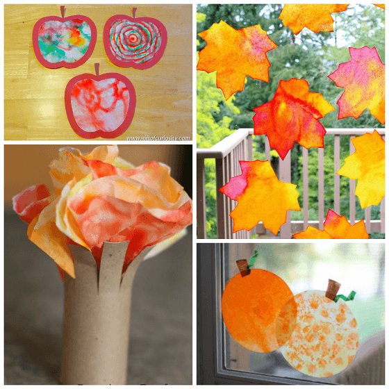 Fall Halloween Coffee Filter Crafts For Kids