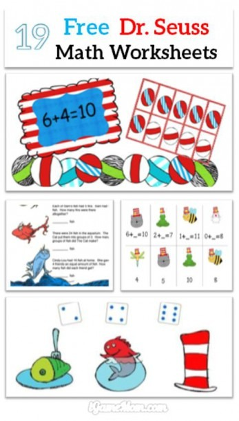 Free Dr Seuss Math Printable Worksheets For Kids