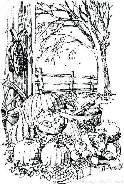 Free Fall Coloring Pages For Kindergarten Preschool Autumn F