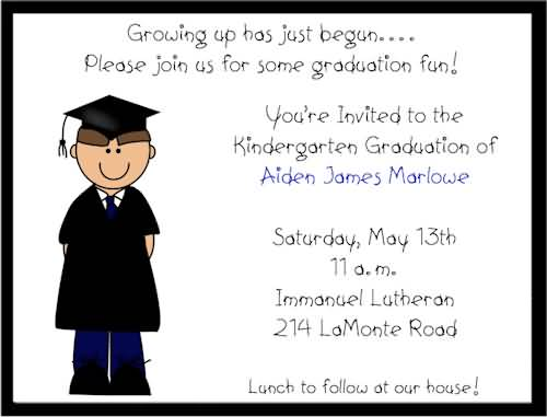 kindergarten congratulation message