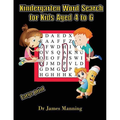 Kindergarten Word Search For Kids Aged 4 To 6