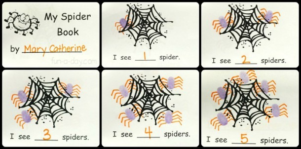 Free Printable Spider Counting Book For A Preschool Spider Theme