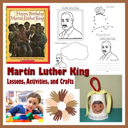 Martin Luther King Day Lesson, Crafts, And Activities