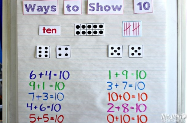 Number Sense Activities Making Ten In Kindergarten And First Grade