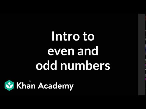 Intro To Even And Odd Numbers (video)
