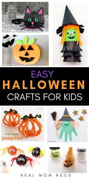 Cute And Simple Halloween Crafts For Kids To Make! Toddler
