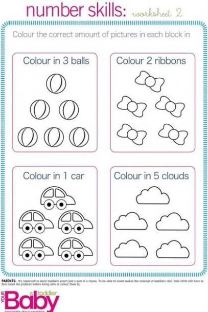 Printable  School Readiness Work Sheets