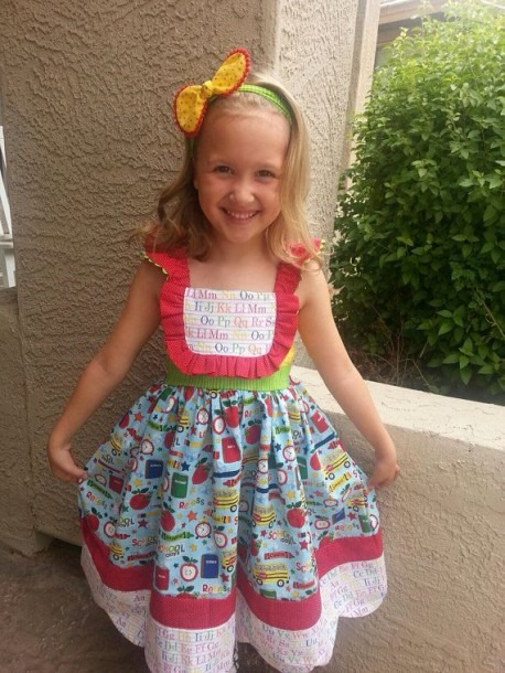 Back To School Dress + Girls + Girls Clothes + Back To School