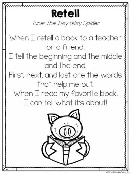 Free Retelling Song Printable Poem  ) By Miss Decarbo