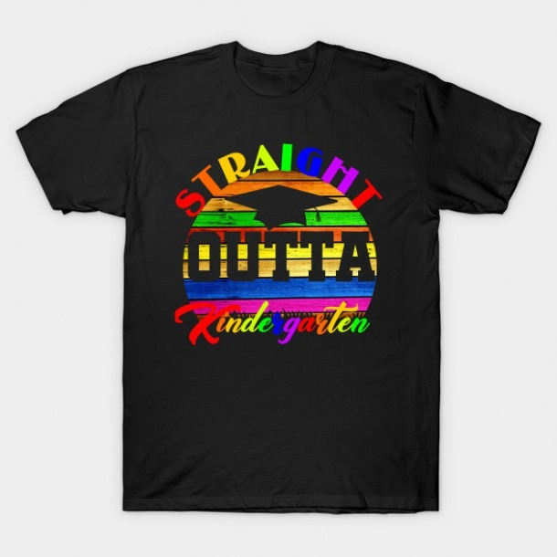 Straight Outta Kindergarten Class Of 2019 Graduation Tshirt