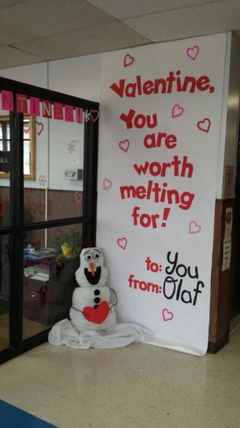 Olaf Valentine's Bulletin Board  You Are Worth Melting For