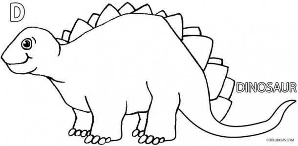 Blank Dinosaur Coloring Pages